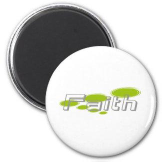 Foi Moderne ronds verts en V 2 Inch Round Magnet