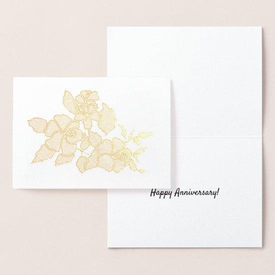 Foil Card - Hibiscus Blossoms