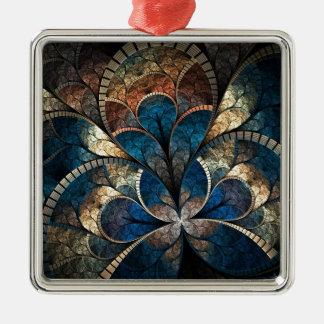 Foil Clover Fractal Metal Ornament