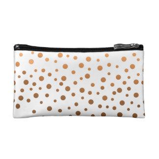 Foil Confetti Copper Ombre Pattern Cosmetic Bag