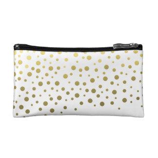 Foil Confetti Gold Pattern Makeup Bag