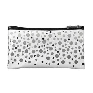 Foil Confetti Silver Ombre Pattern Makeup Bag