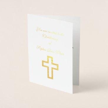 USA Themed Foil Cross Invitations