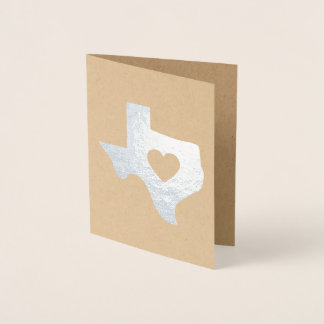 Foil Deep in the Heart of Texas State Note Card