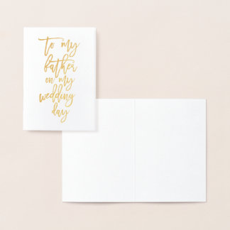 Foil Father of the Bride Groom Wedding Thank You Foil Card