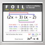FOIL Method Math Poster