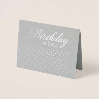 Foil Polkadot Birthday Wishes Greeting Card