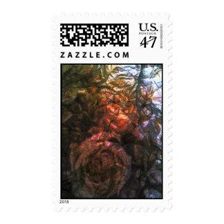 Foil Roses Postage Stamp