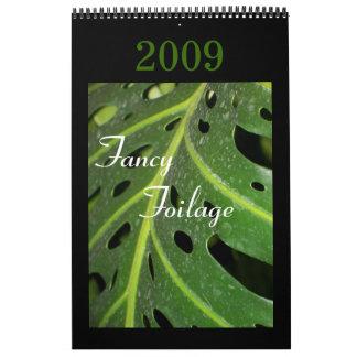 Foilage de lujo, calendario 2009