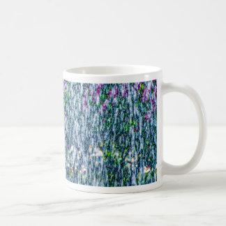 Fointain jets and lilac flowers coffee mug