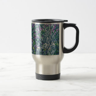 Fointain jets and lilac flowers travel mug