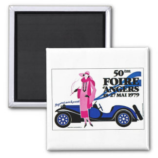 Foire d'Angers - Vintage French Advertisement 2 Inch Square Magnet