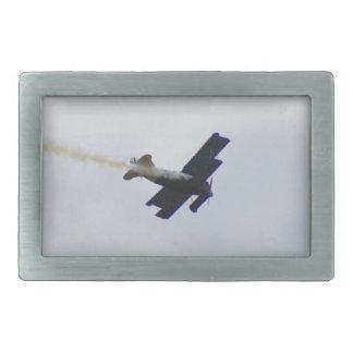 Fokker modelo que hace humo hebilla cinturón rectangular