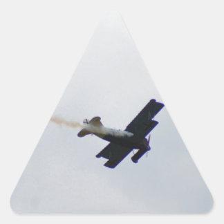 Fokker modelo que hace humo pegatina triangular