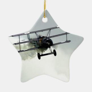 Fokker triplane Double-Sided star ceramic christmas ornament