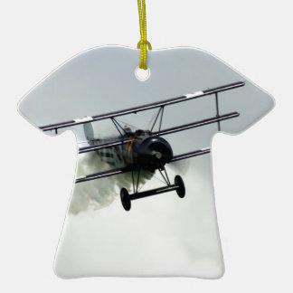 Fokker triplane Double-Sided T-Shirt ceramic christmas ornament