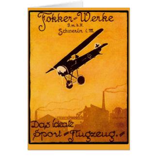 Fokker Worke Poster on Notecards Card