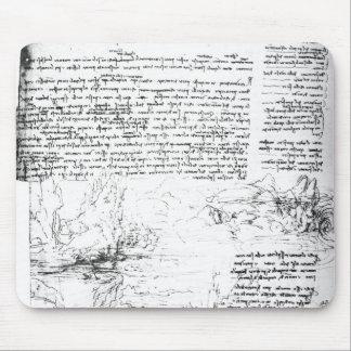 Fol 145v-a página del cuaderno de da Vinci Alfombrillas De Raton