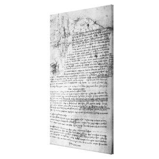 Fol.145v-b, page from Da Vinci's notebook Canvas Print
