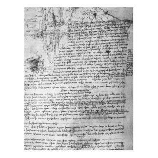 Fol.145v-b, página del cuaderno de da Vinci Postal
