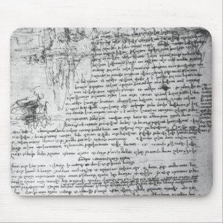 Fol 145v-b página del cuaderno de da Vinci Alfombrillas De Ratón