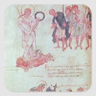 Fol.15.083 from the Psychomachia by Prudentius Square Sticker