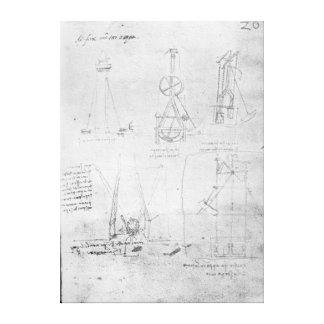 Fol. 20r del manuscrito B, 1488-90 de París Impresión En Lona Estirada