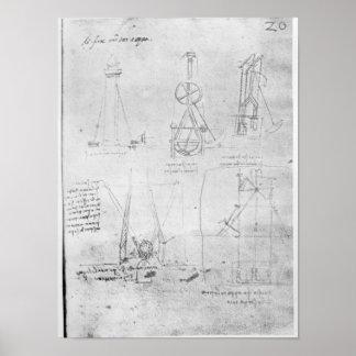 Fol. 20r from Paris Manuscript B, 1488-90 Poster