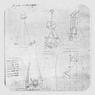 Fol. 20r from Paris Manuscript B, 1488-90 Square Sticker