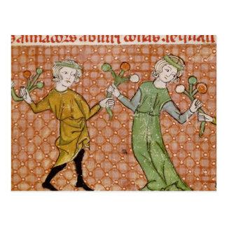Fol.215v la tentación: Un par del baile Postal
