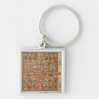 Fol.220 Carpet page, from the Lichfield Silver-Colored Square Keychain