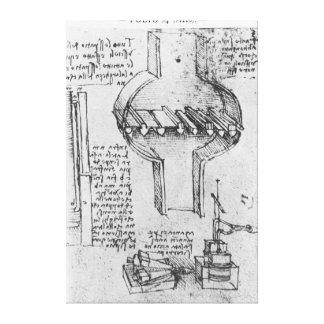 Fol. 34r from Manuscript E, 1513-14 Canvas Print