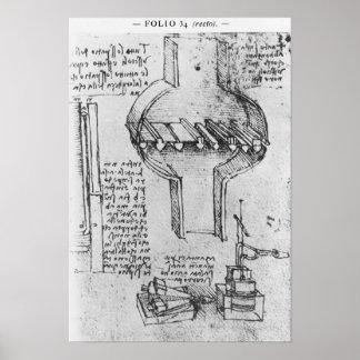 Fol. 34r from Manuscript E, 1513-14 Poster