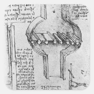 Fol. 34r from Manuscript E, 1513-14 Square Sticker