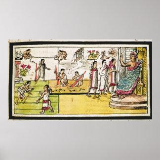 Fol.40r Construction of Tenochtitlan, 1579 Print