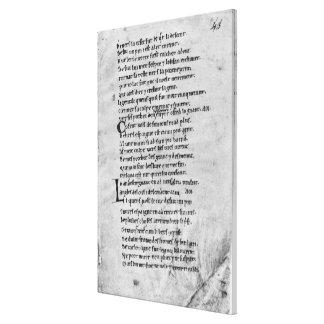 Fol.43 'la canción de Roland Impresiones En Lona Estiradas