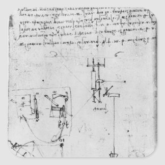 Fol. 46v, from the Codex Forster III, 1480s-1494 Square Sticker