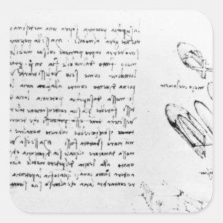 Fol. 49v del códice Arundel 263, 1490s-1518 Pegatina Cuadrada