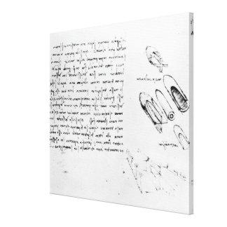 Fol. 49v from the Codex Arundel 263, 1490s-1518 Canvas Print