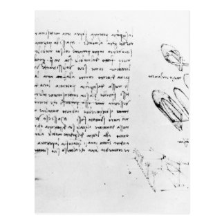 Fol. 49v from the Codex Arundel 263, 1490s-1518 Postcard