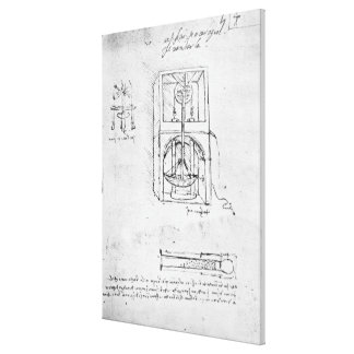 Fol. 54r from Paris Manuscript B, 1488-90 Gallery Wrap Canvas