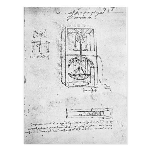 Fol. 54r from Paris Manuscript B, 1488-90 Post Card