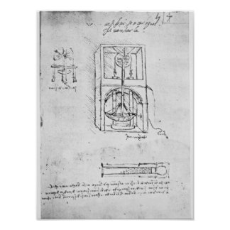Fol. 54r from Paris Manuscript B, 1488-90 Poster