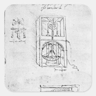 Fol. 54r from Paris Manuscript B, 1488-90 Square Sticker