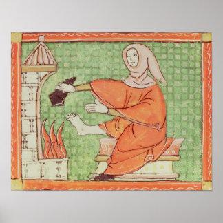 Fol.58r febrero: El calentarse por el fuego Póster