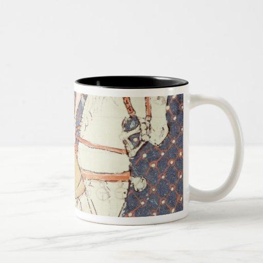 Fol.58v May: Falconry Two-Tone Coffee Mug