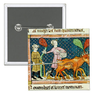 Fol.59r October: Ploughing Button