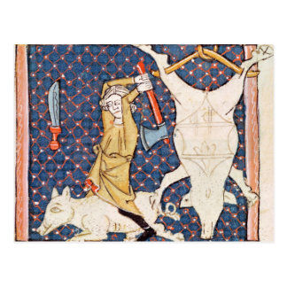 Fol.59v diciembre: Cerdos de la matanza Postales