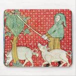 Fol.59v November: Gathering Acorns Mouse Pad