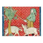 Fol.59v November: Gathering Acorns Postcard